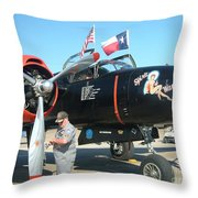 Texas Bomber Throw Pillow