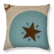 Texas Capitol Dome Lone Star In Austin, Texas, Usa Throw Pillow