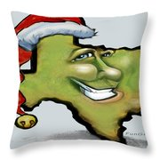 Texas Christmas Greetings Throw Pillow