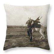 Texas: Cowboy, C1906 Throw Pillow