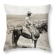 Texas: Cowboy, C1908 Throw Pillow