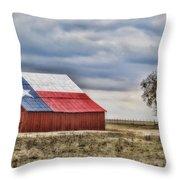 Texas Flag Barn #2 Throw Pillow