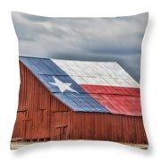 Texas Flag Barn #3 Throw Pillow