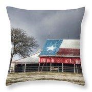 Texas Flag Barn #4 Throw Pillow