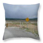 Texas Gate Canadian Rockies Throw Pillow