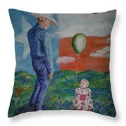 Texas Grandpa Throw Pillow