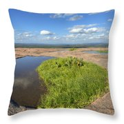Texas Hill Country Enchanted Rock Zen Pools 2 Throw Pillow