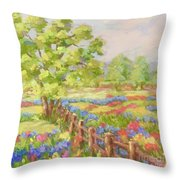 Texas Hill Country Throw Pillow