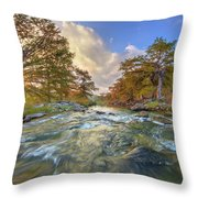 Texas Hill Country Pedernales Sunrise 1014-3 Throw Pillow