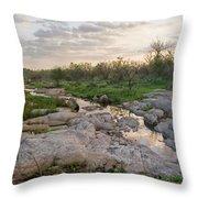 Texas Hill Country Sunrise - Llano Tx Throw Pillow