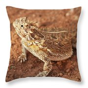 Texas Horned Lizard Throw Pillow