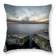 Texas Iceburgs @ Sunset Throw Pillow