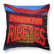 Texas Impressions Sweetie Pie's Ribeyes Throw Pillow