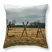 Texas In Tree Branches Throw Pillow