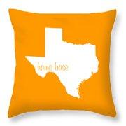 Texas Is Home Base White Throw Pillow