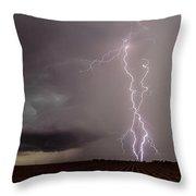 Texas Lightning Throw Pillow