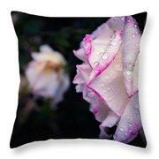 Texas Rain Drops Throw Pillow by Amber Dopita