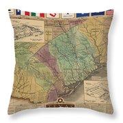 Texas Revolution Throw Pillow