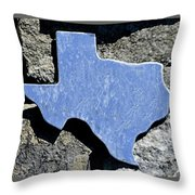 Texas Rocks Throw Pillow