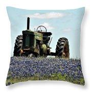 Texas Spring Throw Pillow