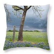 Texas Spring Storm Throw Pillow