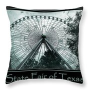 Texas Star Aqua Poster Throw Pillow