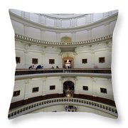 Texas State Capital  Throw Pillow