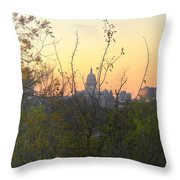 Texas State Capital From Far East Austin Throw Pillow