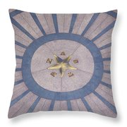 Texas State Capitol - Courtyard Floor Throw Pillow