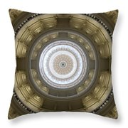 Texas State Capitol - Interior Dome Throw Pillow