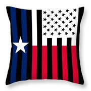 Texas State Flag Graphic Usa Styling Throw Pillow