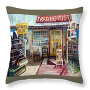 Texas Store Front Throw Pillow