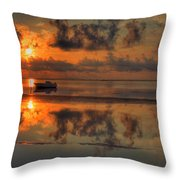 Texas Sunset Gulf Of Mexico Throw Pillow by Kevin Hill