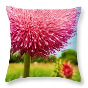 Texas Thistle 003 Throw Pillow