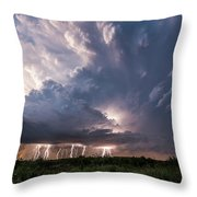 Texas Twilight Throw Pillow