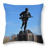 Texas War Memorial Throw Pillow