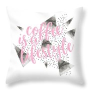 Text Art Coffee Is A Lifestyle Throw Pillow