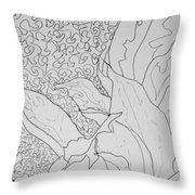 Texture And Foliage Throw Pillow