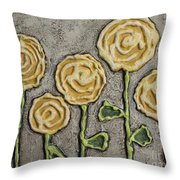 Texture Blooms In Sunshine Throw Pillow