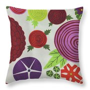 Texture Of Colored Fabric Throw Pillow