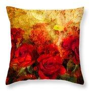Texture Roses Throw Pillow
