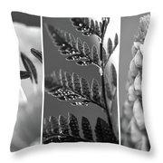 Texture Triptych Throw Pillow