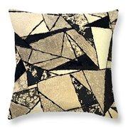 Textured Angles Throw Pillow
