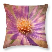 Textured Aster Throw Pillow by Lois Bryan