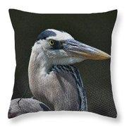 Textured Blue Throw Pillow
