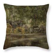 Textured Carriages Throw Pillow