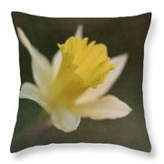 Textured Daffodil Throw Pillow