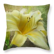 Textured Daylily Throw Pillow