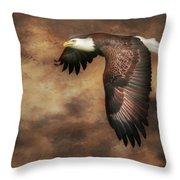 Textured Eagle 2 Throw Pillow