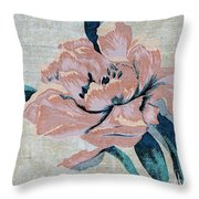 Textured Floral No.2 Throw Pillow by Writermore Arts